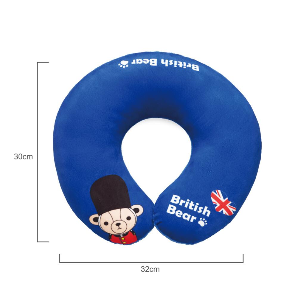 英國熊 英倫風頸枕 064ta-d18b