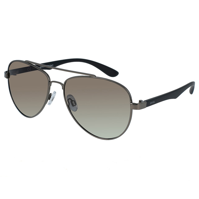 【INVU】瑞士極簡飛行員框偏光太陽眼鏡 (槍色) B1013A