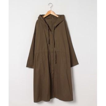 (A HAPPY MARILYN/アハッピーマリリン)新色追加 綿100 ゆったりがお洒落! オーバーサイズ 長袖 フーデッドコート/レディース カーキ