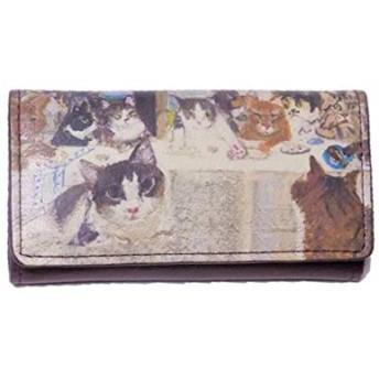 マンハッタナーズ キーケース 猫たちの最後の晩餐 75-1019-NBRZ Manhattaner's 猫グッズ 猫雑貨 猫 キーホルダー
