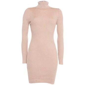 《セール開催中》VANESSA SCOTT レディース ミニワンピース&ドレス ベージュ one size レーヨン / ナイロン / ポリエステル