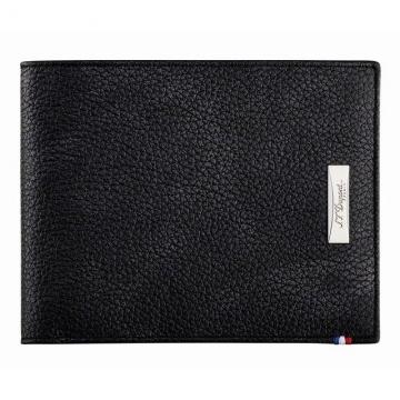 LINE D皮夾-8卡-SOFT DIAMOND軟粒面皮革黑色