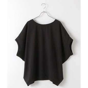 MARcourt/マーコート T/R stretch cocoon wide P/O black FREE