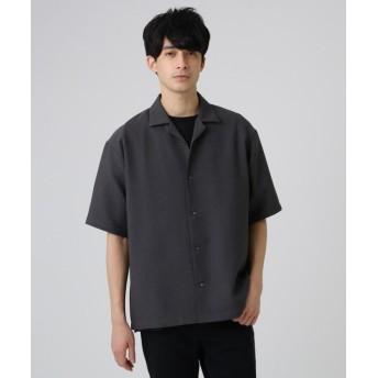 ティーケー タケオキクチ ブッチャーオープンカラーシャツ メンズ ダークグレー(013) 03(L) 【tk. TAKEO KIKUCHI】