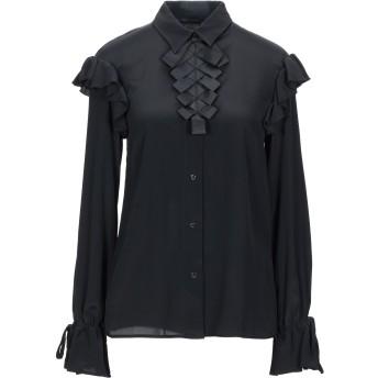 《セール開催中》CRISTINAEFFE レディース シャツ ブラック 40 アセテート 83% / シルク 17%