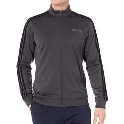 Adidas 2020男時尚Tricot深灰色運動立領拉鍊夾克