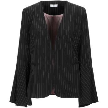 《セール開催中》SFIZIO レディース テーラードジャケット ブラック 44 ポリエステル 94% / ポリウレタン 5% / レーヨン 1%
