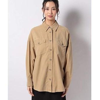 ベネトン レディース(UNITED COLORS OF BENETTON) コットンビッグポケットオーバーサイズシャツ・ブラウス【ベージュ3/L】
