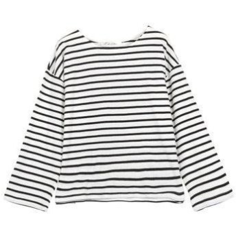 コウベレタス KOBE LETTUCE ゆるチュニックTシャツ [C4452] (オフ×ブラック)