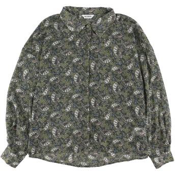 【6,000円(税込)以上のお買物で全国送料無料。】ペイズリー柄シアーシャツ