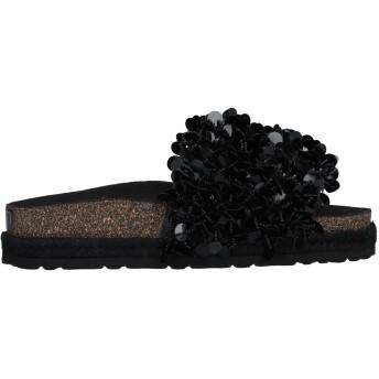 《セール開催中》TOWN レディース サンダル ブラック 35 紡績繊維