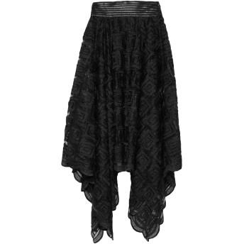 《セール開催中》PLEIN SUD レディース 7分丈スカート ブラック 38 ポリエステル 100% / コットン / ポリウレタン / レーヨン