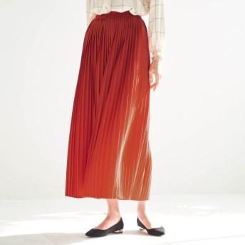 カットソープリーツスカート オレンジ S M L LL 3L