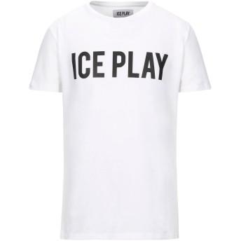《セール開催中》ICE PLAY メンズ T シャツ ホワイト L コットン 100%
