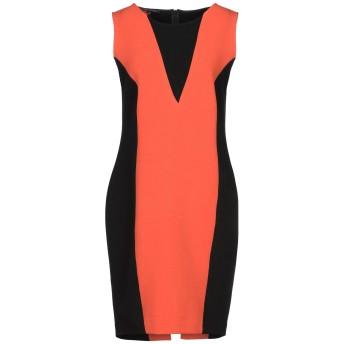 《セール開催中》MIRELLA MATTEINI レディース ミニワンピース&ドレス オレンジ 48 ポリエステル 65% / レーヨン 30% / ポリウレタン 5%