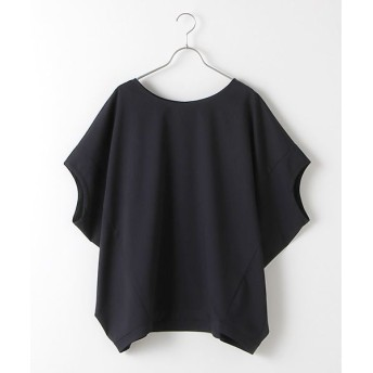 MARcourt/マーコート T/R stretch cocoon wide P/O navy FREE