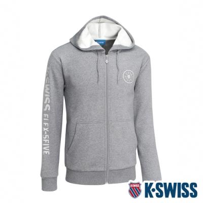 K-SWISS Branding Logo刷毛連帽外套 男 深灰