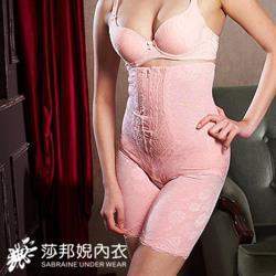 【莎邦婗】560丹日本六角緹花超高腰束腹褲 買一送一 超值2件組(T3289)