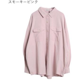 【10%OFF】 リジュール 2020新作♪SOFT綿ビエラ オーバーサイズCPOシャツ レディース ピンク M 【Rejoule】 【セール開催中】