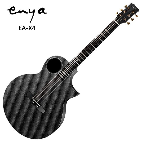 Enya EA-X4嚴選41吋尖角碳纖維吉他/含專屬豪華硬殼套+恩雅特製 PU 背帶