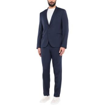 《セール開催中》MANUEL RITZ メンズ スーツ ブルー 56 ポリエステル 64% / レーヨン 34% / ポリウレタン 2%