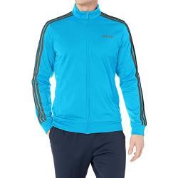Adidas 2020男時尚Tricot峽谷藍色運動立領拉鍊夾克