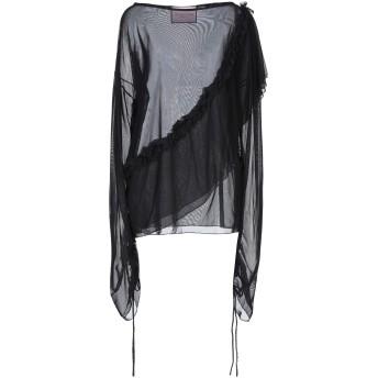 《セール開催中》GIOVANNA NICOLAI レディース T シャツ ブラック 38 ナイロン 93% / ポリウレタン 7%