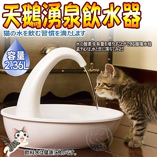 四個工作天出貨除了缺貨》Pioneer Pet》D173天鵝湧泉寵物飲水器