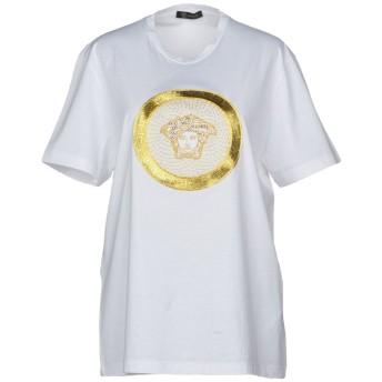 《セール開催中》VERSACE レディース T シャツ ホワイト XXL コットン 100%