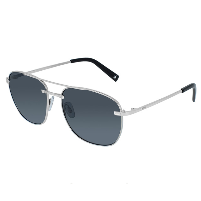 【INVU】瑞士個性飛行員款偏光太陽眼鏡 (黑/銀) B1002A