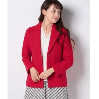 【ラピーヌ ブランシュ】インレイ編み テーラードジャケット