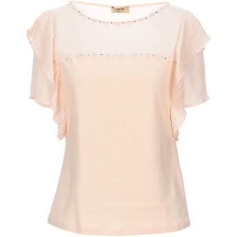 《セール開催中》LIU JO レディース T シャツ あんず色 40 コットン 90% / ポリウレタン 10% / ポリエステル