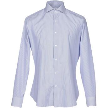 《セール開催中》TRUZZI メンズ シャツ ブルー 43 コットン 100%