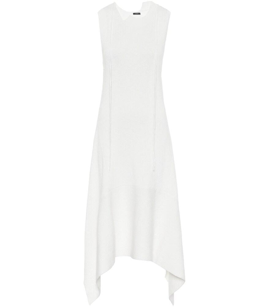 Dee cotton-blend knit midi dress
