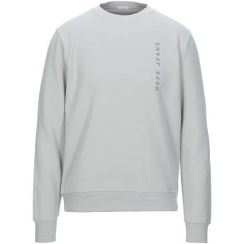 《セール開催中》PEPE JEANS メンズ スウェットシャツ ライトグレー S ポリエステル 66% / コットン 34%