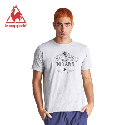 法國公雞牌短袖T恤 LZJ2110595-男-麻灰