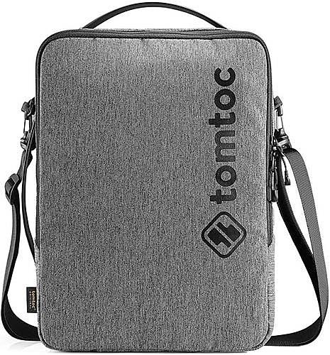 【日本代購】tomtoc 360°保護 單肩包 13英寸 耐衝擊 防水加工、灰色