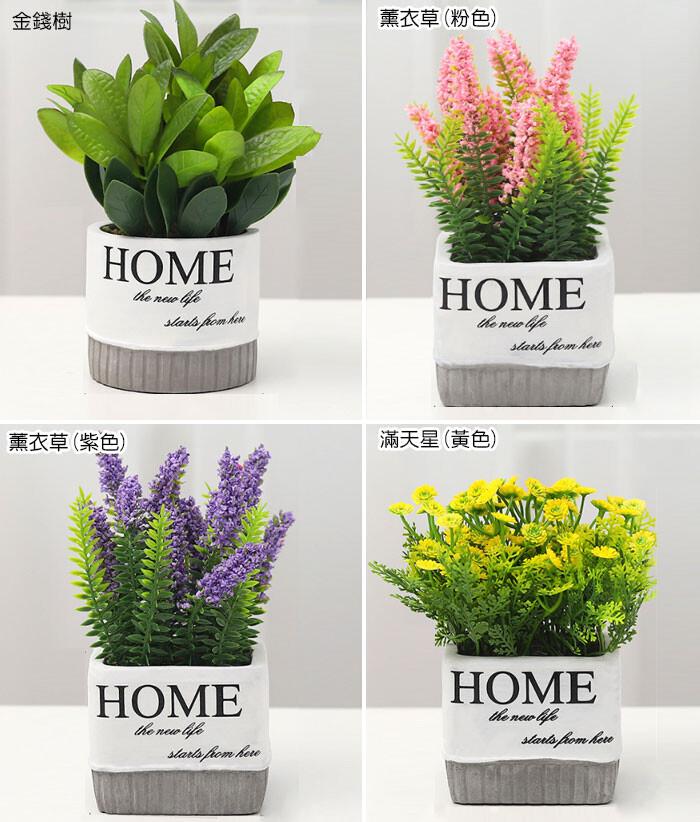 北歐仿真植栽 創意水泥盆模擬植物