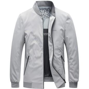 NEYOUQE メンズ ジャケット コート ブルゾン ジャンパー テーラードジャケットビジネス カジュアルジャケット立襟 防風防寒 おしゃれ L