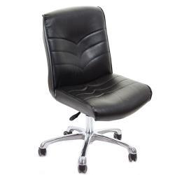 GXG 短背皮面 無扶手電腦椅 (鋁合金腳) TW-1008 LU