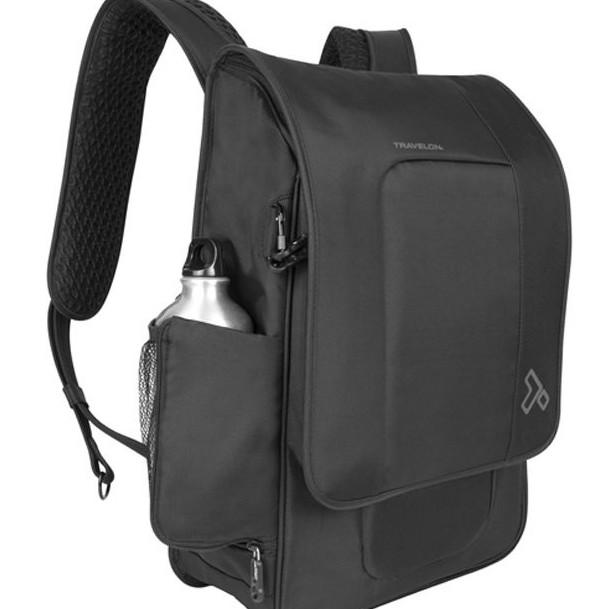 Travelon 美國 RFID 都會防盜輕薄背包 筆電後背包 防盜防搶 黑 TL-42582 綠野山房