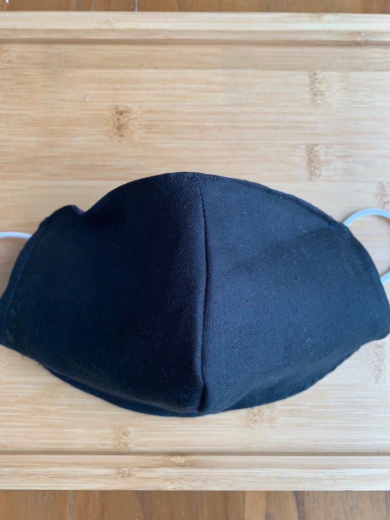 文青風環保進口雙層紗透氣布口罩套 雙面使用 百搭黑