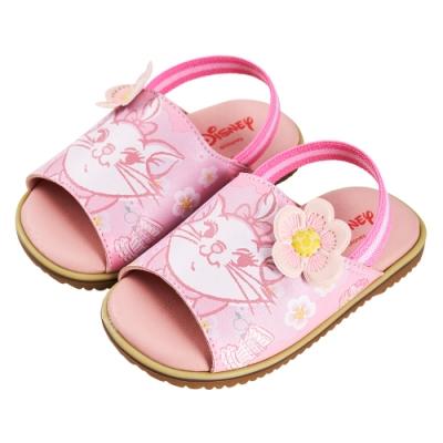 迪士尼童鞋 瑪麗貓 櫻花季鬆緊帶涼鞋-粉(柏睿鞋業)