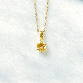富と繁栄のシトリンAAA 14kgfネックレス -宝石質-黄金の光