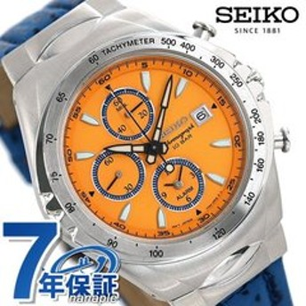 dポイントが貯まる・使える通販| セイコー ジウジアーロ マッキナスポルティーバ 流通限定モデル メンズ 腕時計 SNAF83PC SEIKO シエナオレンジ×ブルー 革ベルト 時計 【dショッピング】 腕時計 おすすめ価格