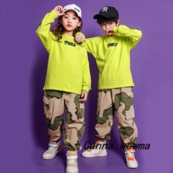 子供 女の子  ジャズダンス ステージ衣装 セットアップ 男の子 hiphop   ジュニア ジャズダンス  演出服 春秋 男女兼用