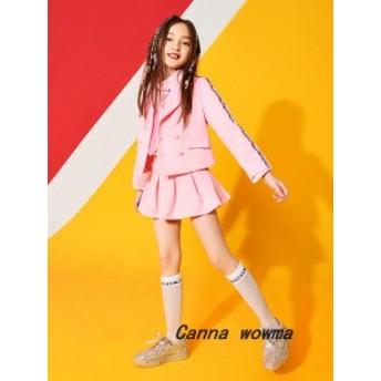 子供 ダンス 衣装 ヒップホップ衣装 演出服  長袖 スカート セットアップ 女の子 ステージ衣装 団体服 演出服