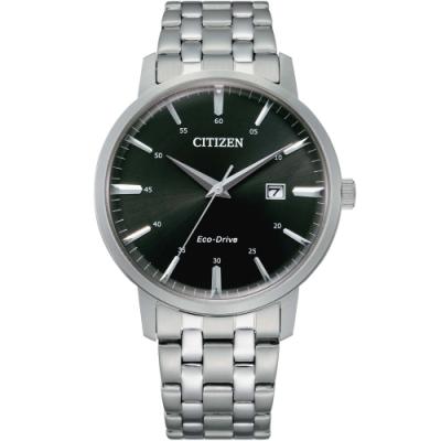 CITIZEN星辰 光動能簡約大三針時尚男錶(BM7460-88E)-40mm