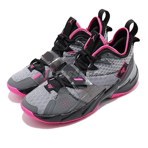 Nike 籃球鞋 Jordan Why Not Zer0.3 PF 黑 灰 粉紅 心跳 男鞋 【ACS】 CD3002-003