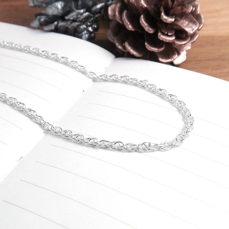 純銀搭配鍊 雙扣圓圈鍊(2.4mm中鍊) 925純銀客製長度訂製項鍊